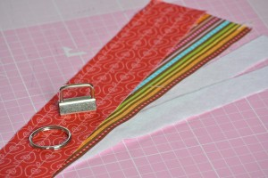 Materials you will need to make a Fabric Key Fob Wristlet
