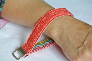 Designer Fabric Key Fob Wristlet